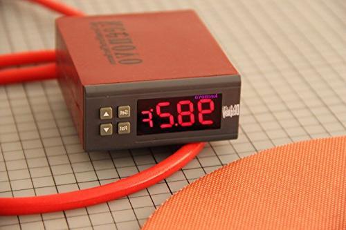 """Dia 10"""" 120V 500W, KEENOVO Mat, Liquid Tank Pad, w/Digital Thermostat Controller"""