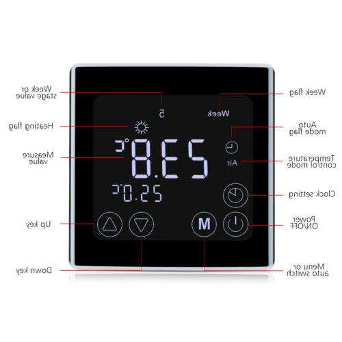 Digital Heating Thermostat Home Screen
