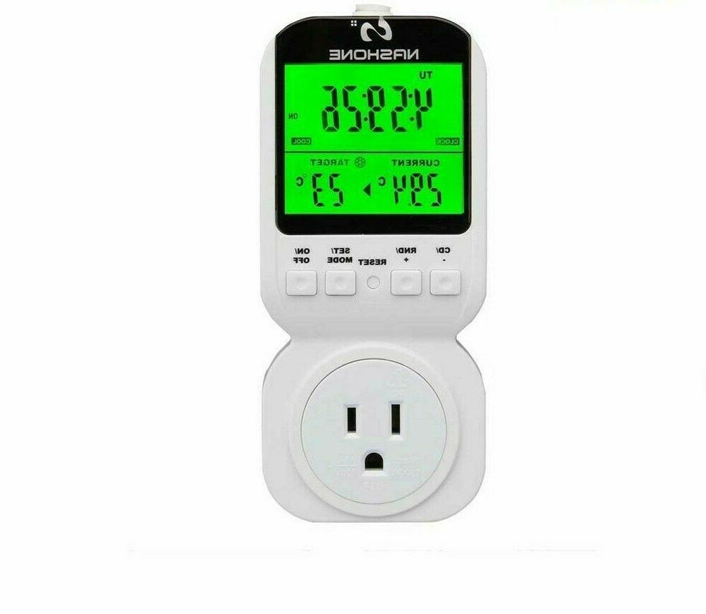 digital programmable thermostat wall hanging temperature con