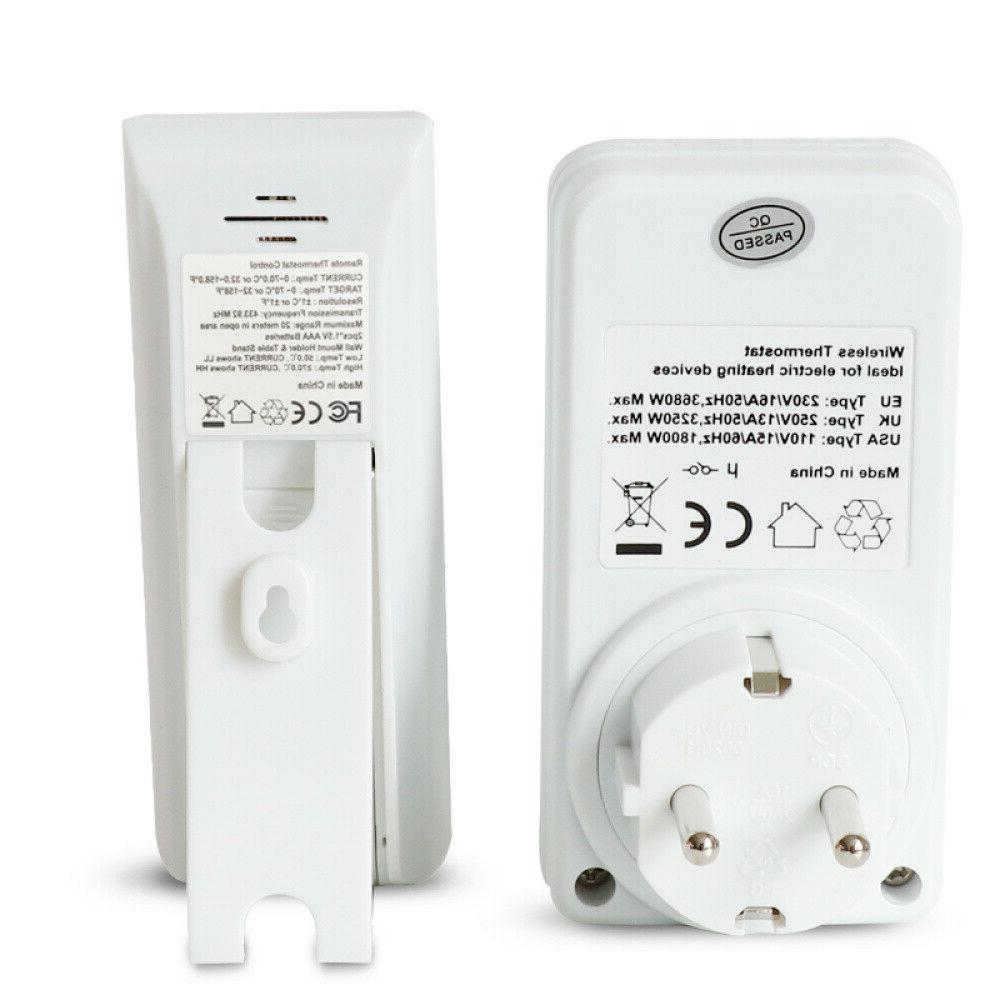Digital Wireless Thermostat Outlet Home Heating Control