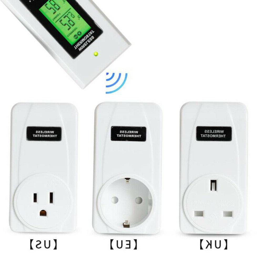 Digital Wireless Thermostat Home In Heating Sensor Remote