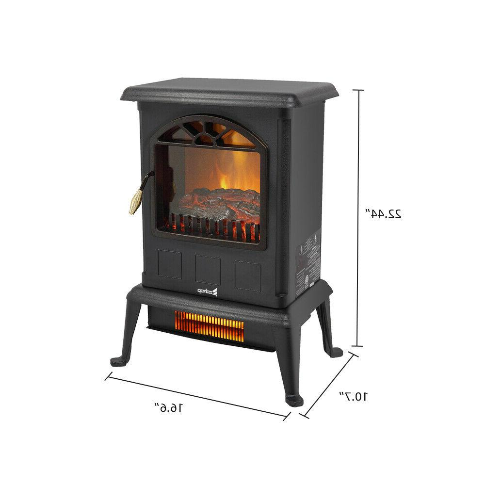 ZOKOP Fireplace Heater with Thermostat Office and