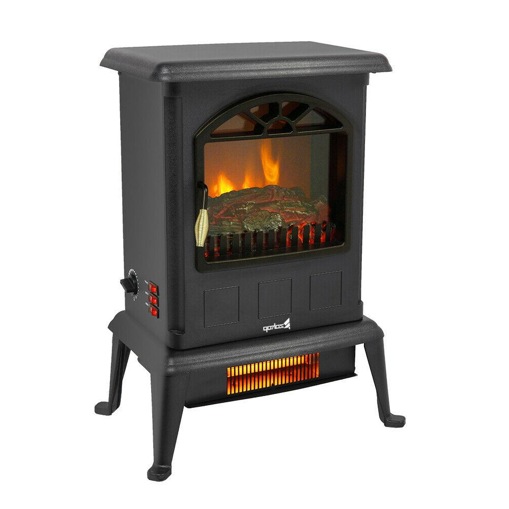 electric fireplace stove heater with thermostat