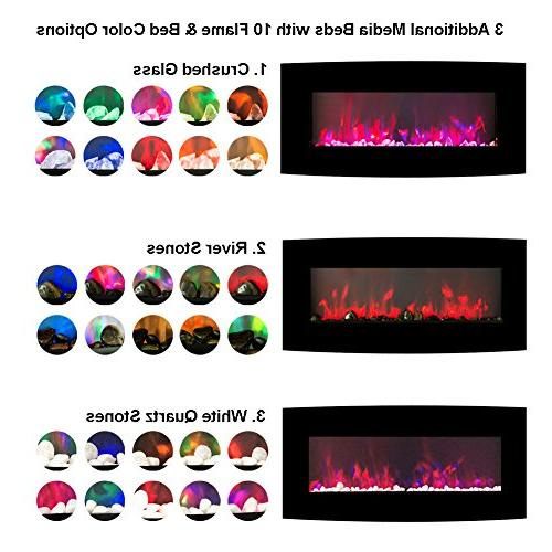 """FLAME&SHADE Small Room 48"""" Free Wall Mount - - Realistic Effect - - - Remote Control"""