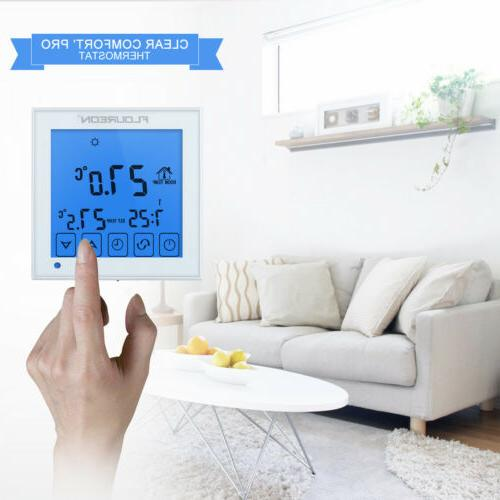 electric heating touch screen thermostat blue backlight