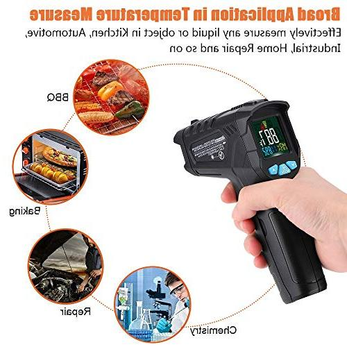 Infrared Non-Contact Digital Laser Gun for Kitchen Thermostat with Flashlight Backlight