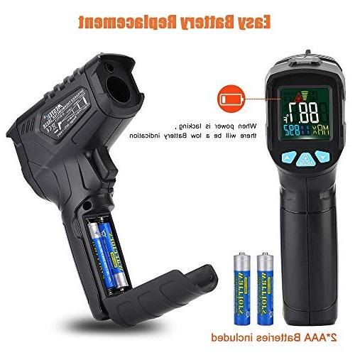 Infrared Thermometer Non-Contact Laser IR Temperature Gun for Cooking BBQ Thermostat Flashlight HD Backlight LCD Temp Display