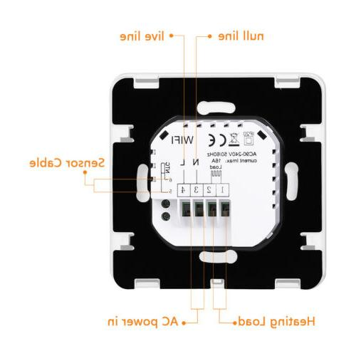 FLOUREON WiFi Digital Thermostat Programmable for Alexa
