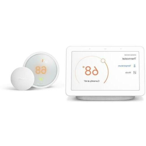 google home hub nest e thermostat