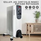 Gray 1500W Electric Oil Radiator Space Heater Room Thermosta