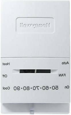 HONEYWELL HOME/BLDG CENTER Heat/Cool Manual Thermostat CT51N
