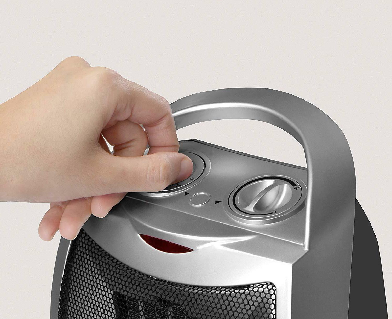 Home Ceramic Space 750W / 1500W Power Setting w/ Thermostat