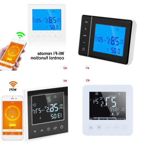 home programmable smart digital thermostat lcd touch