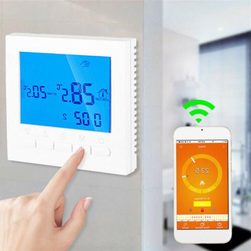 Home Programmable Smart Wireless Digital Thermostat LCD Touch Control