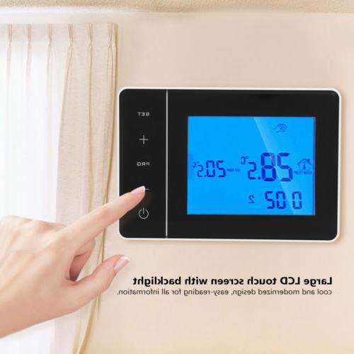 home programmable smart wireless digital thermostat lcd