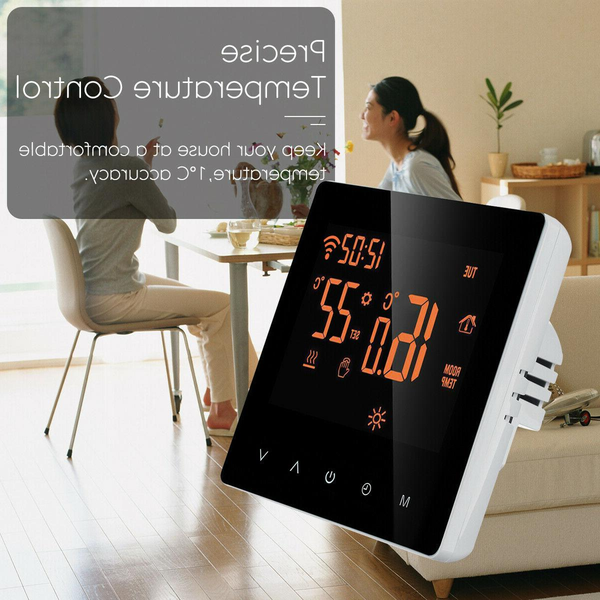 Home Programmable Wifi Heated Thermostat Screen App