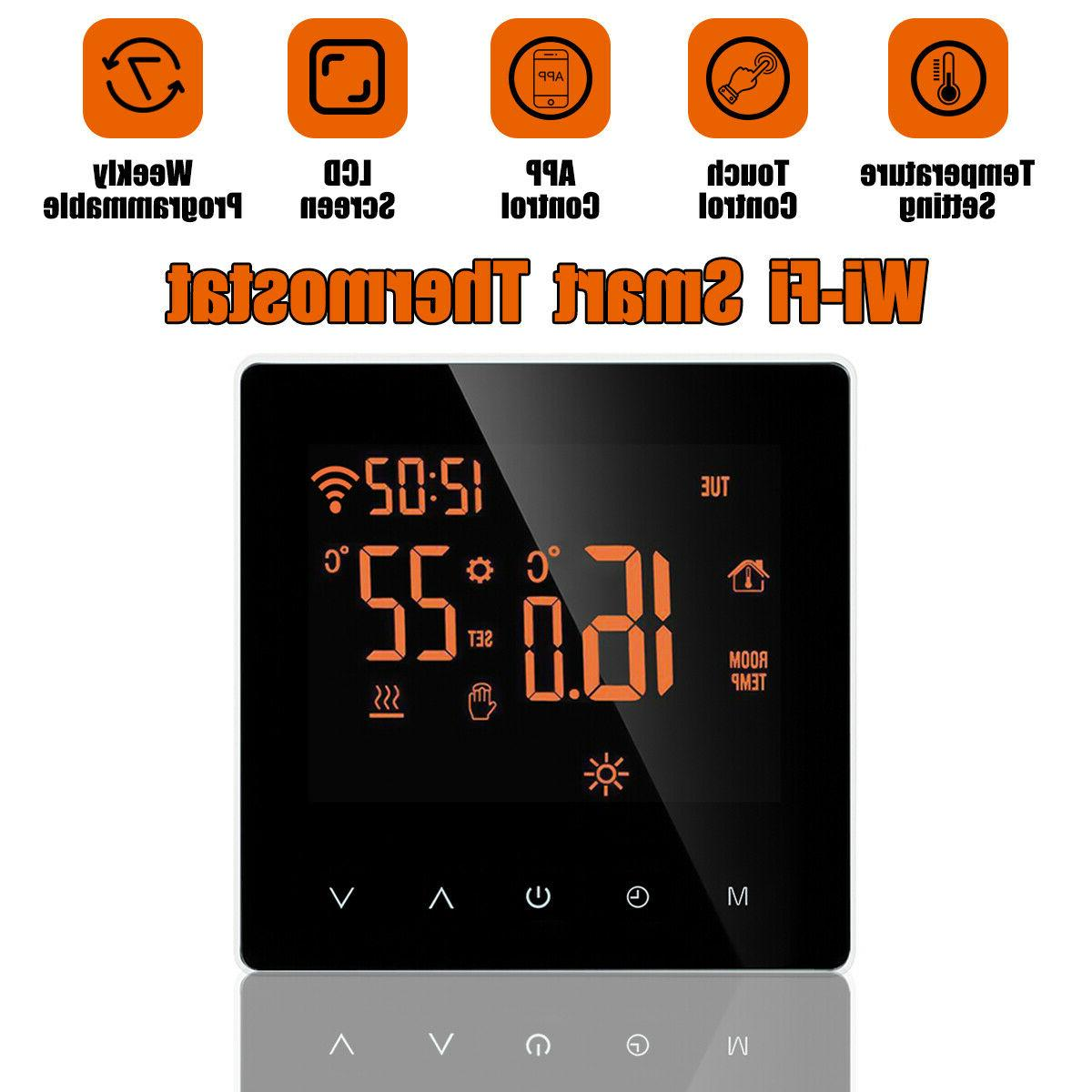 Home Wifi Heated Digital Thermostat Screen Control
