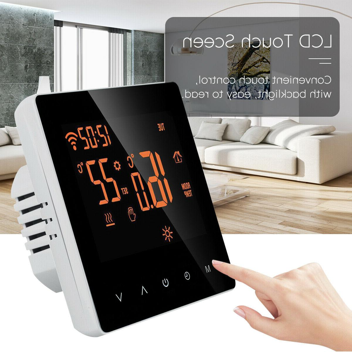 App wifi Home Programmable Heated Thermostat Digital LCD Screen