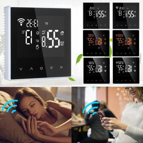 smart home heating thermostat lcd underfloor digital