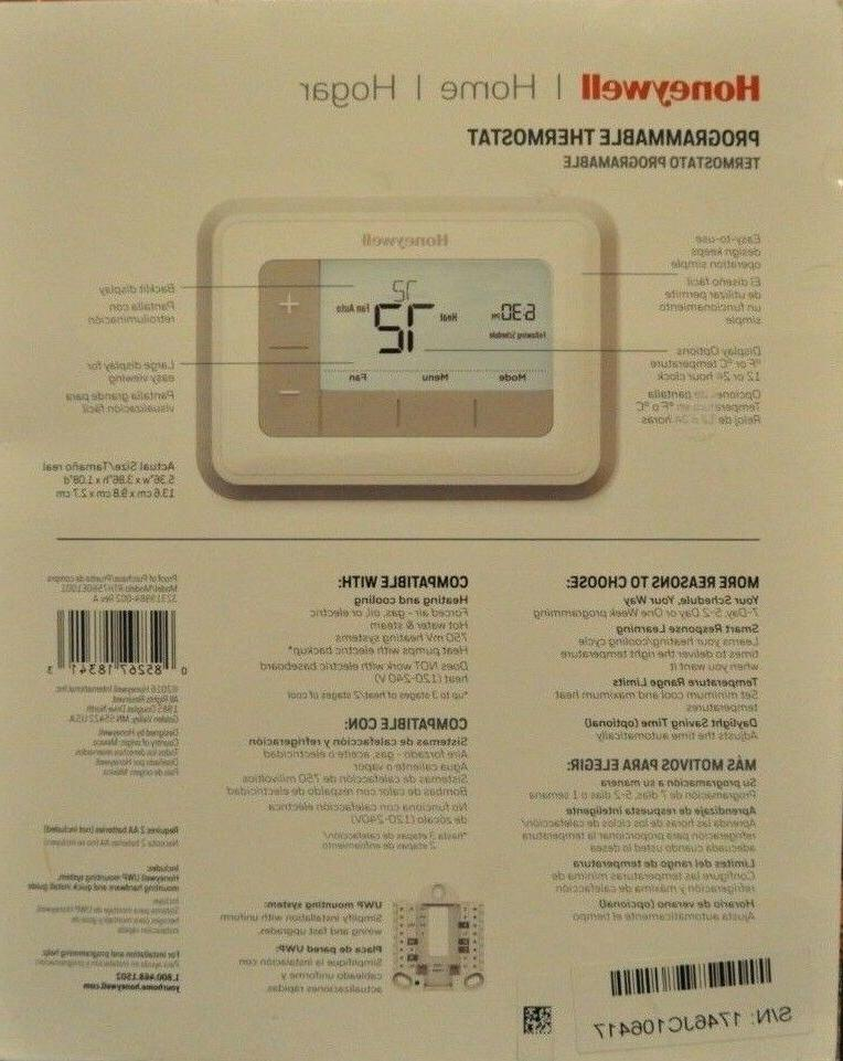 Honeywell Home T5 Day Programmable Thermostat RTH7560E