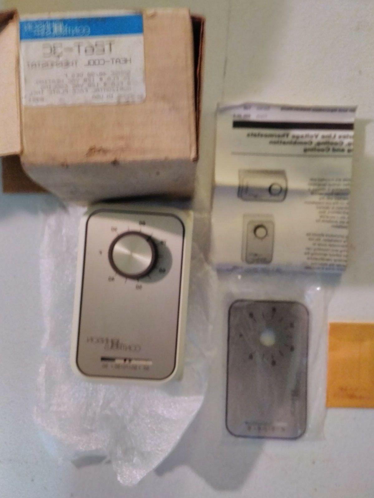Johnson Controls Home Thermostat T26T-3C NOS Inside Wall Tem