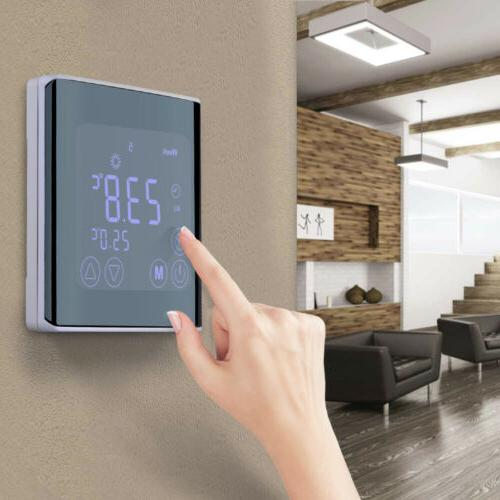 digital heating thermostat programmable home temperature con