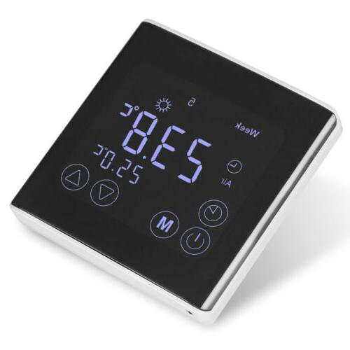 home weekly programming digital lcd display thermostat