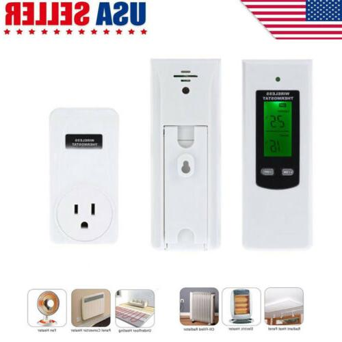 home wireless rf plug in thermostat heating