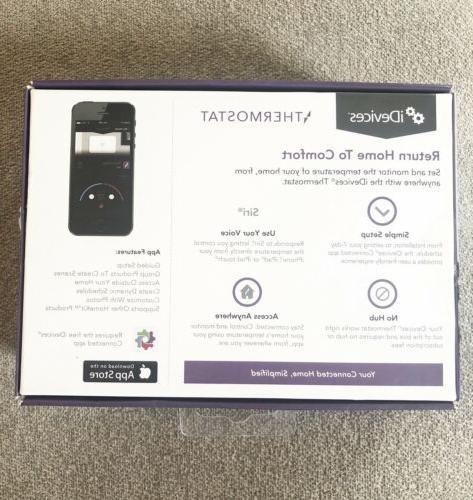 Idevices Idev 0005 Wifi Thermostat, Siri Voice