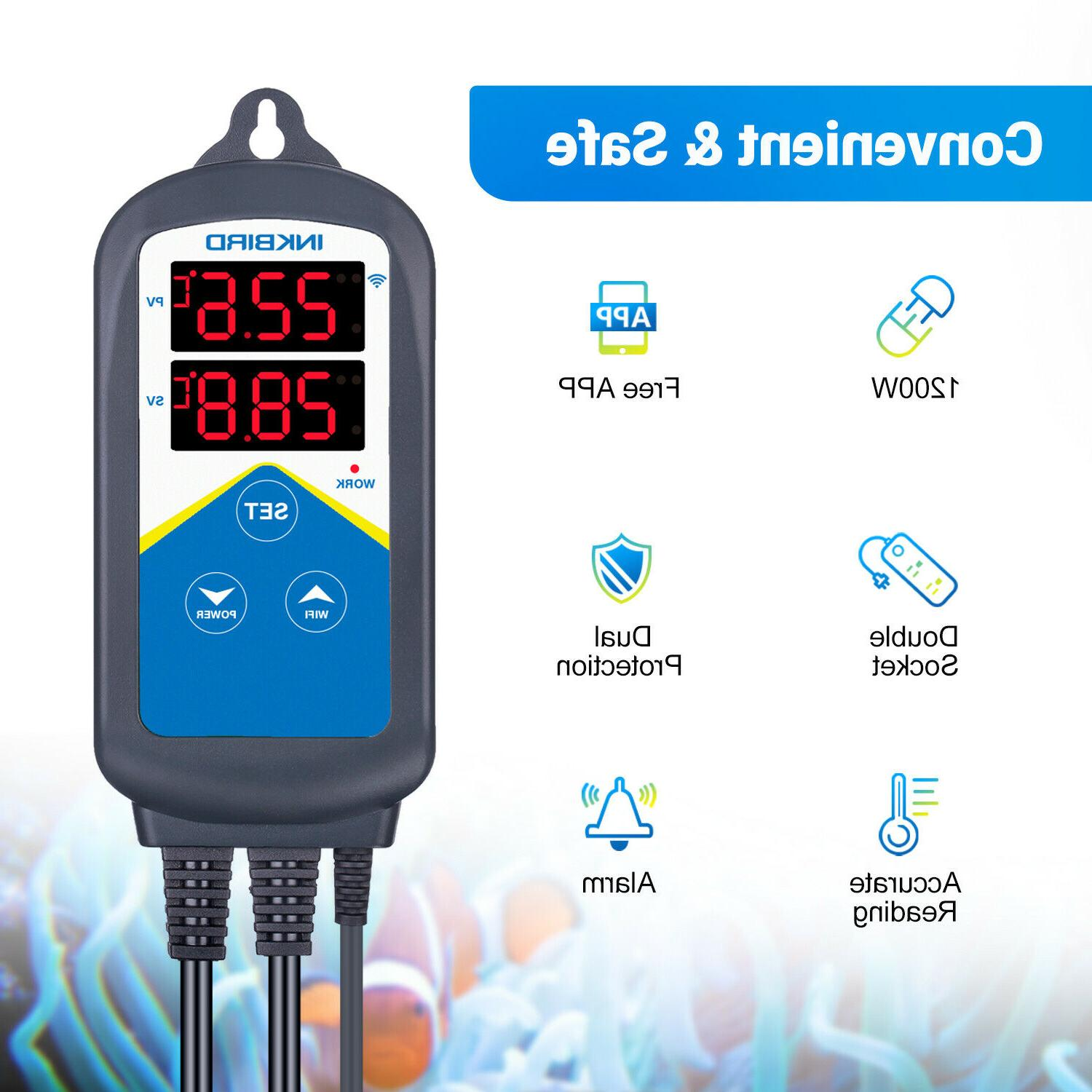Inkbird Digital US Thermometer Controller Double Sockets