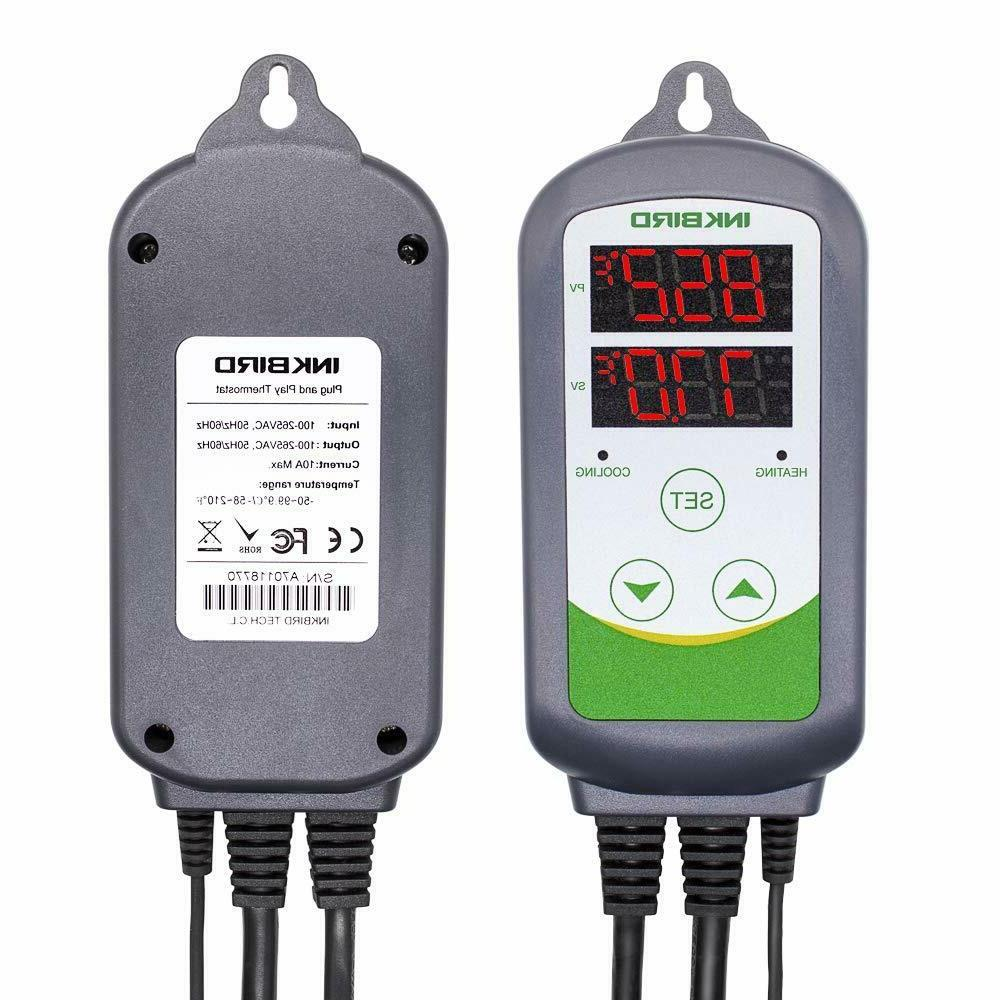 INKBIRD ITC-308 PRE-WIRED Digital Temperature Controller the
