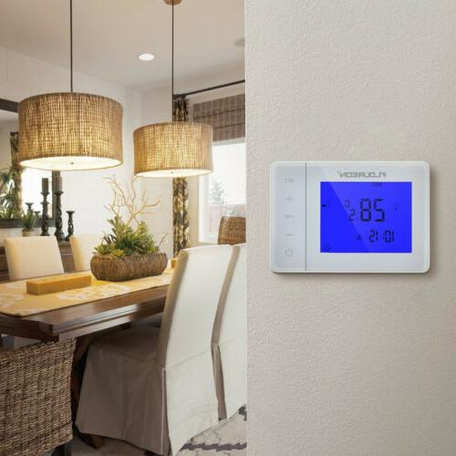 LCD Digital Electric Thermostat Programmable Home Room Tempe