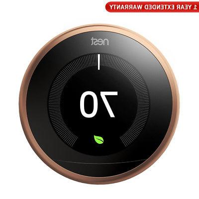 learning thermostat 3rd gen copper 1 year