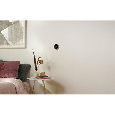 Nest Learning Thermostat 3rd Gen Copper with Google Home Wall Mo