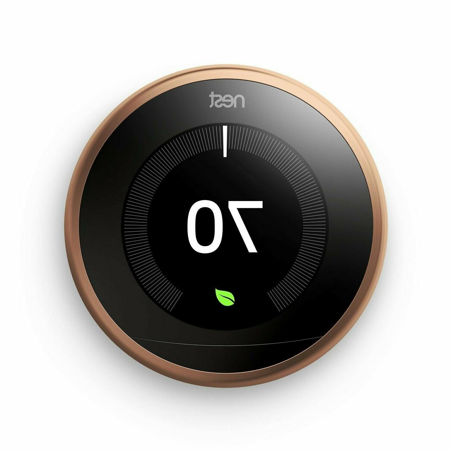 Brand New Nest Learning Thermostat 3rd Generation Copper