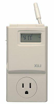 Lux WIN100 Heating  Cooling Programmable Outlet Thermostat N