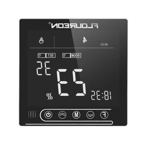 mirror lcd programmable home thermostat with extra