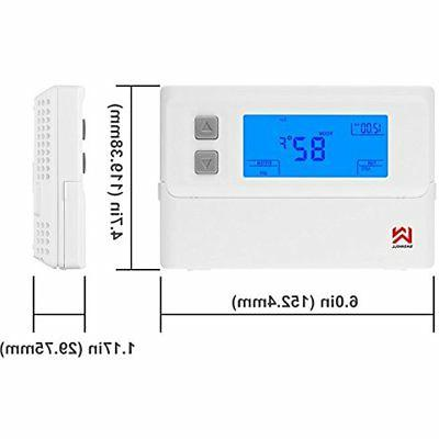 Non-programmable Thermostat, Pump Backlit