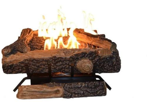Emberglow Oakwood 24 Vent-Free Propane Logs With Thermostatic