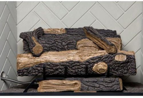 Emberglow Oakwood In. Vent-Free Propane Fireplace Logs