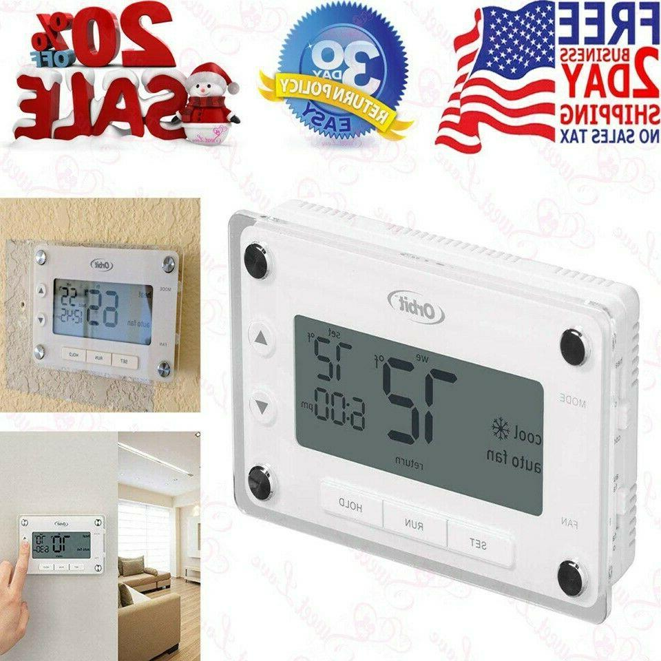 orbit 83521 clear comfort programmablethermostat with large