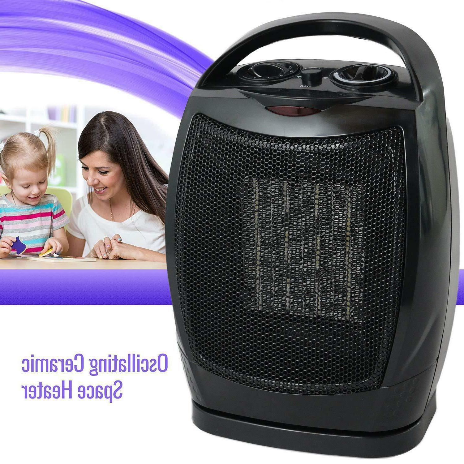 Oscillating Ceramic Space Fan Home Office Portable,