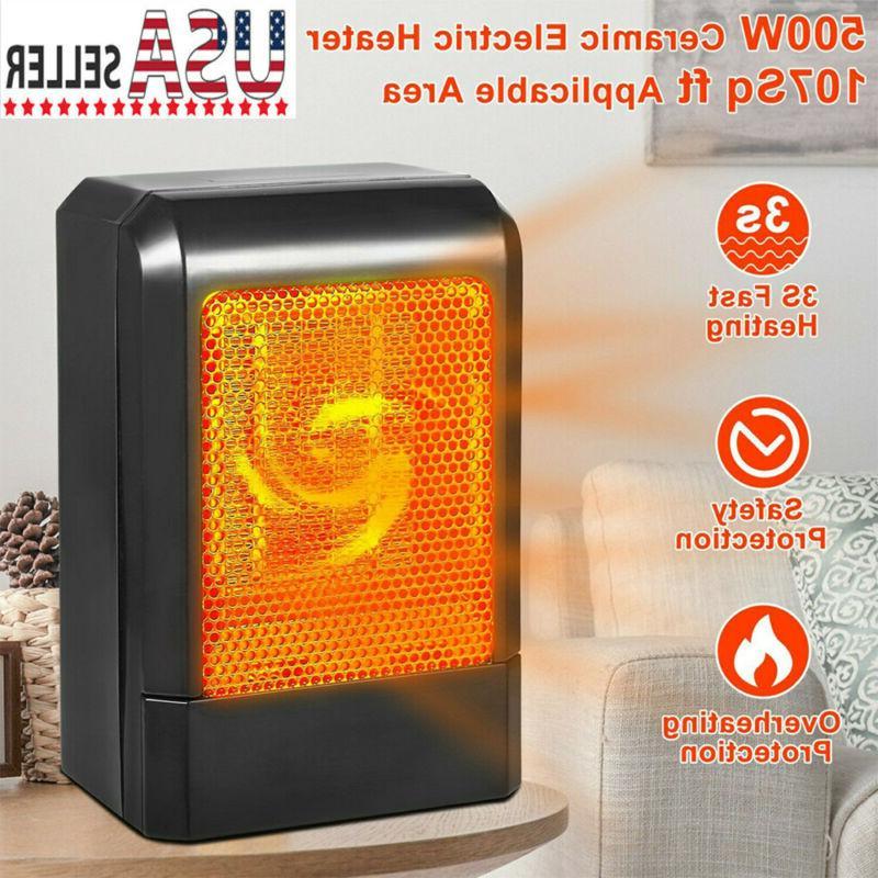 portable ceramic space heater 500w electric heater
