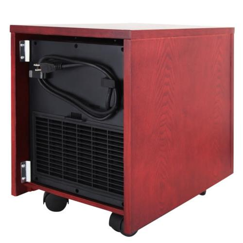 Portable Digital Infrared Quartz Heater 5200 BTUs w/Thermostat