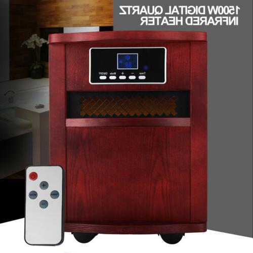 portable electric digital infrared quartz space heater