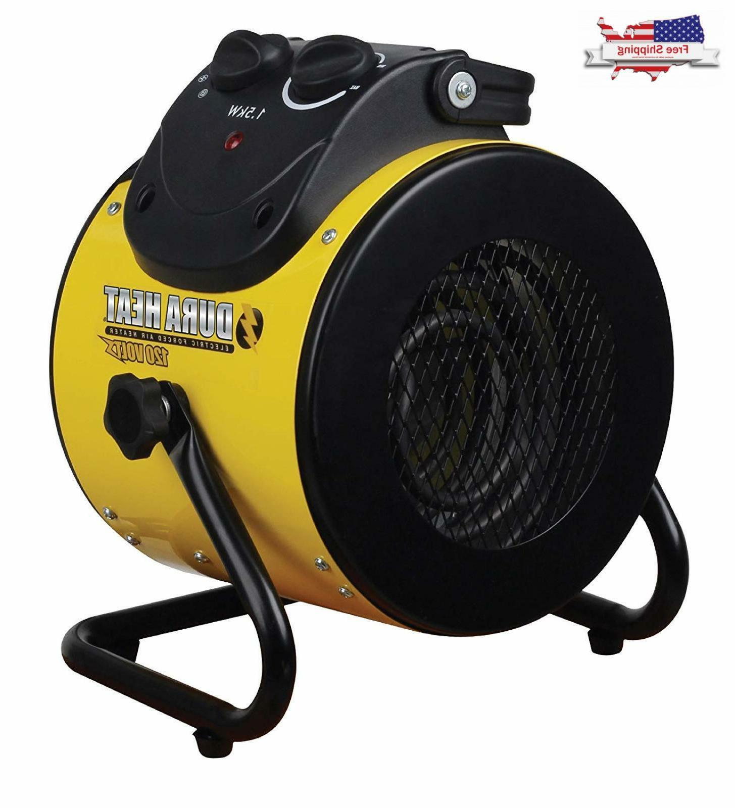 Portable Electric Heater Forced Air Polarized Plug Home Offi