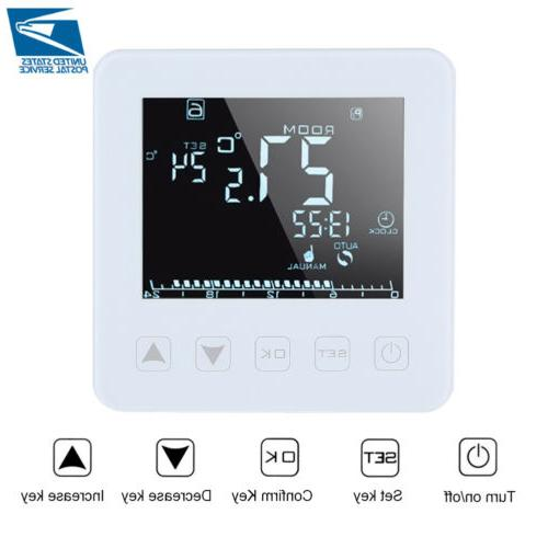 programmable electric heating thermostat lcd screen home