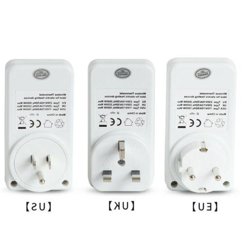 Wireless Electronic Outlet Remote Control Home Temperature