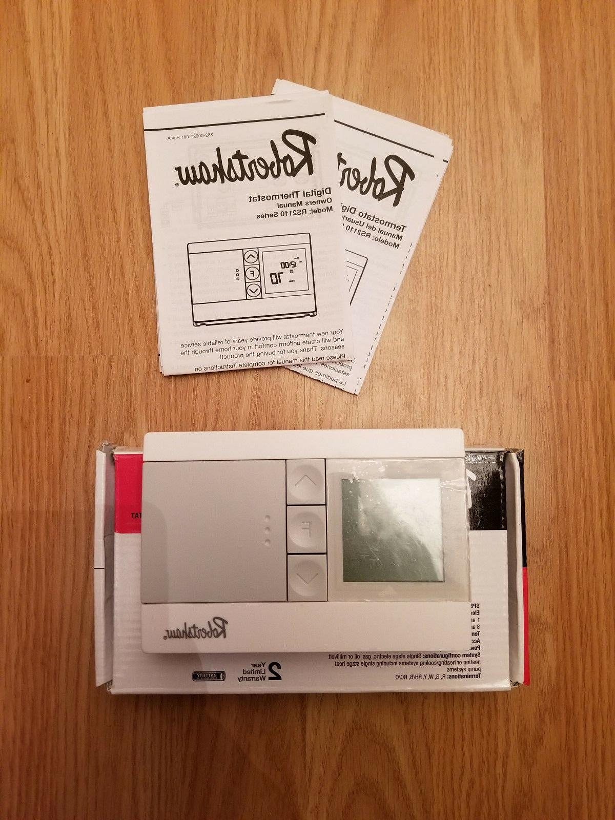 Robertshaw RS2110-Digital Heat-1-Cool-NEW-Open Box
