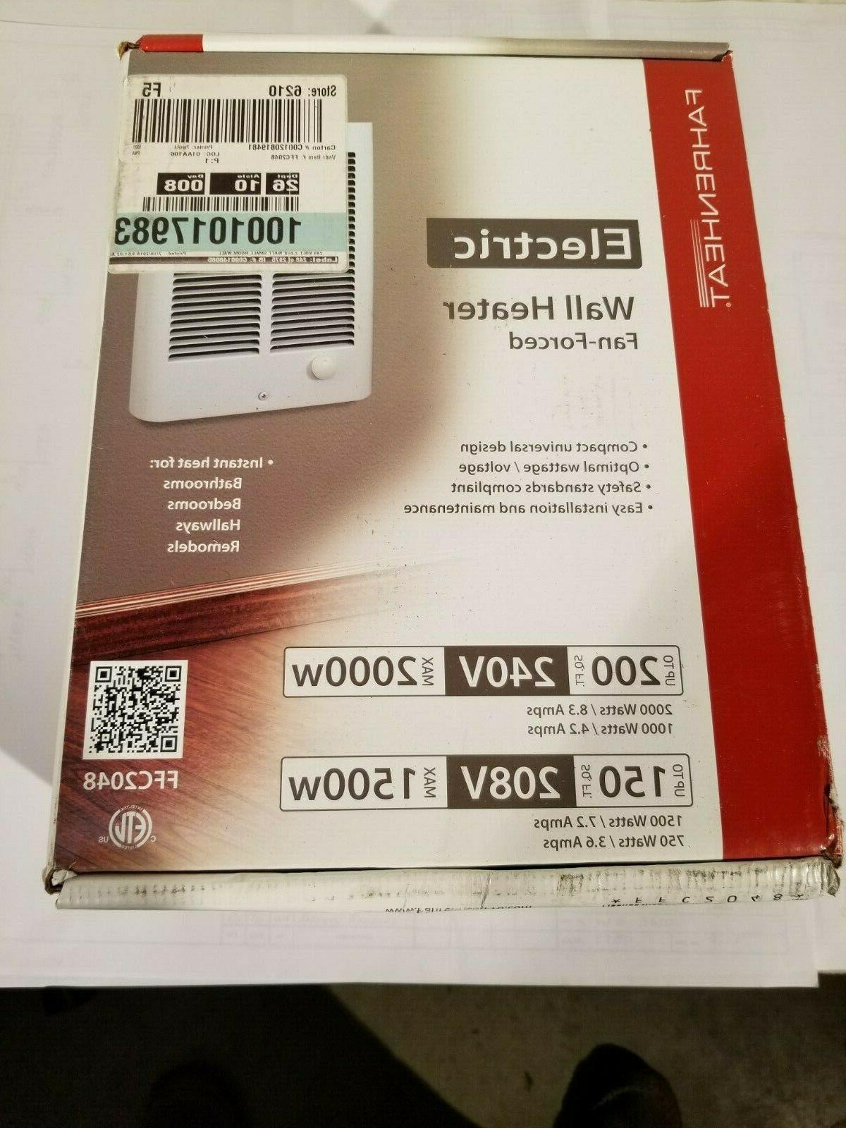Small Room Wall Heater Home Indoor Electric Thermostat Force
